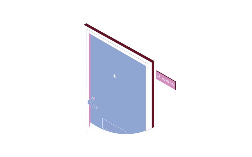 Illustration av döda och dörrskylt