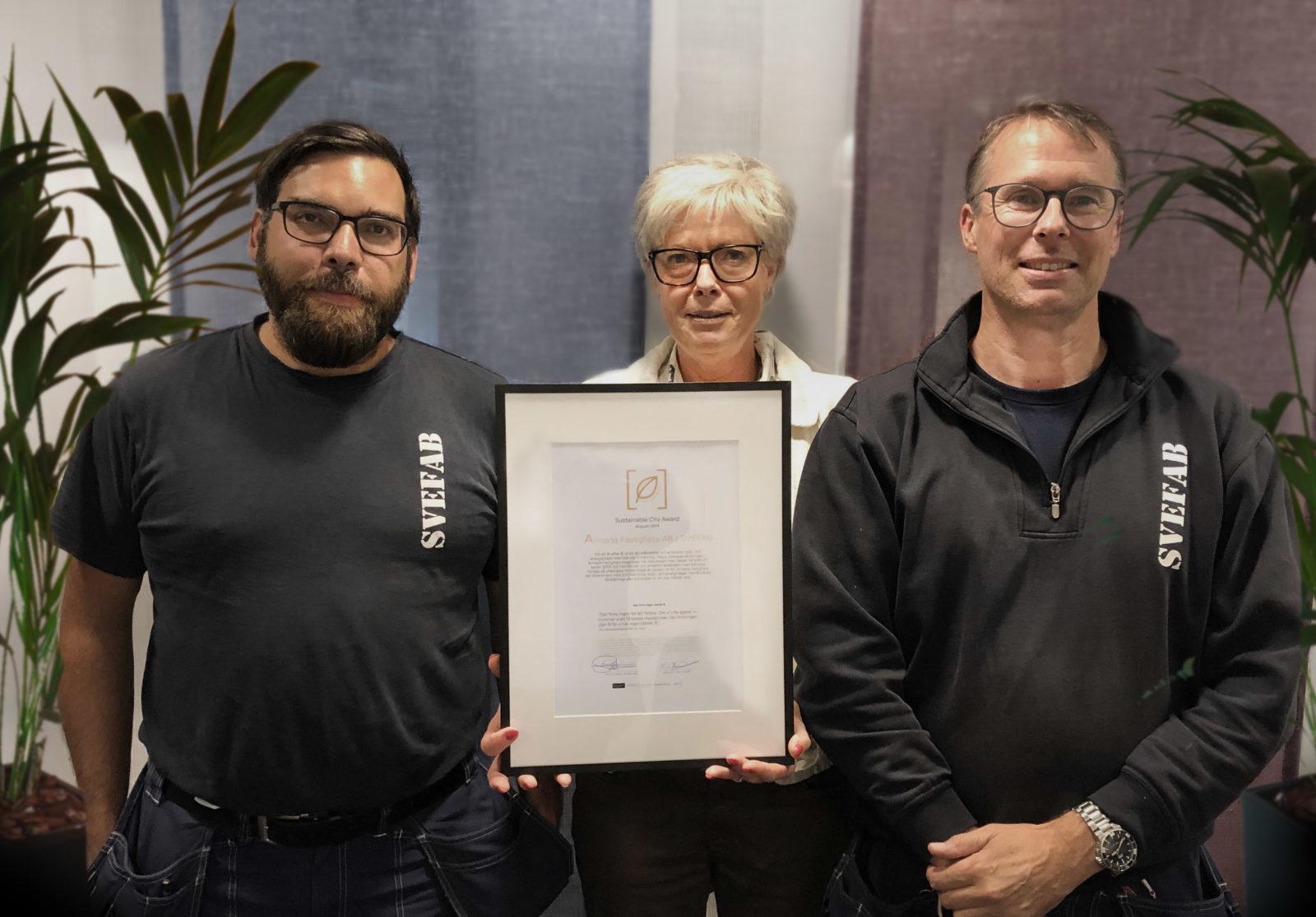 Sustainability Award August 19