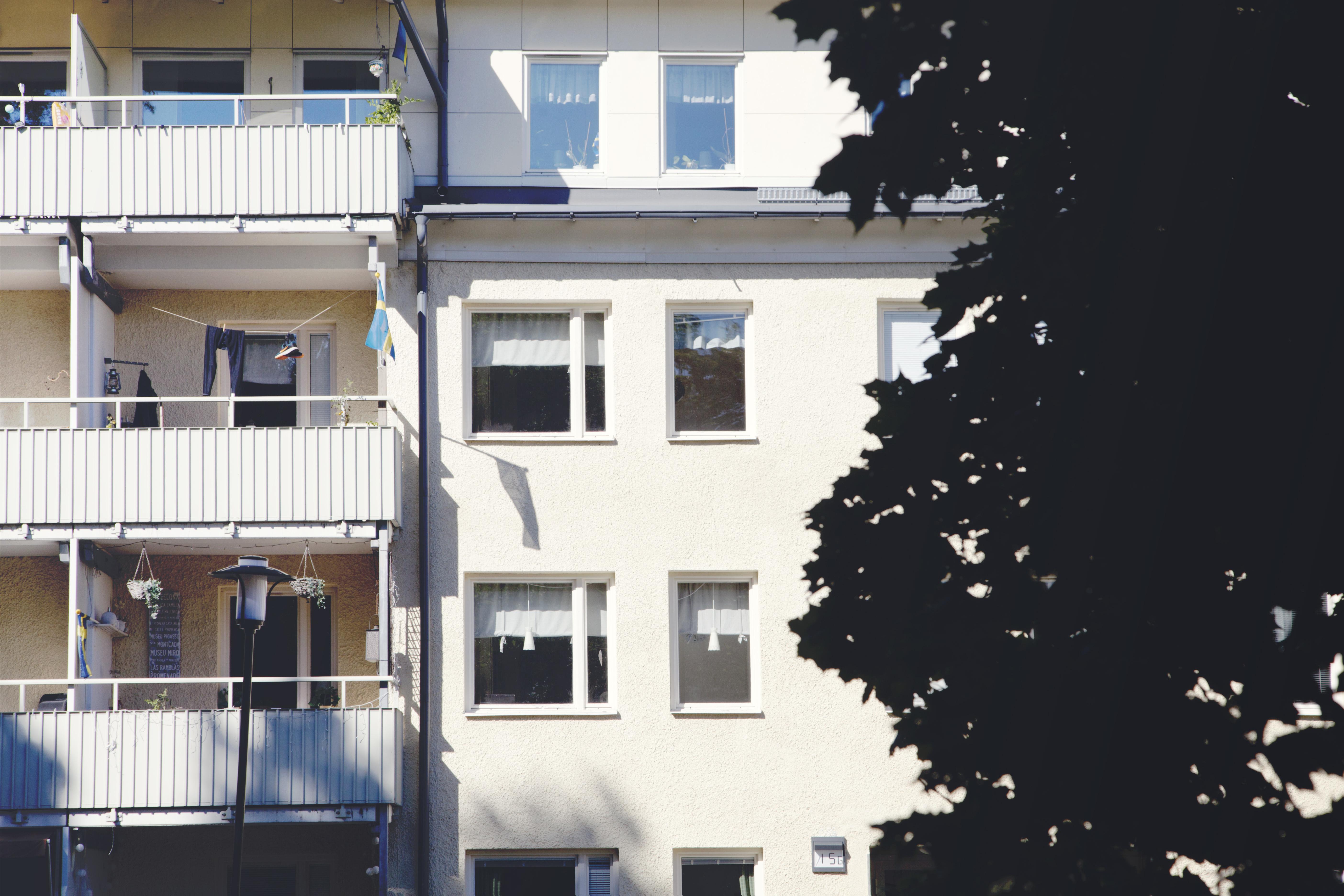 Storängsvägen 13-15, fasad