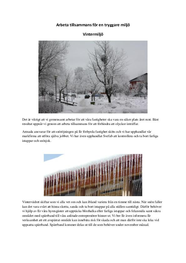 Arbeta tillsammans för en tryggare snömiljö