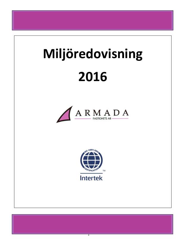 Milöredovisning 2016